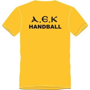 TShirt ΑΕΚ HANDBALL (Κίτρινο) Πίσω - Πλάτη