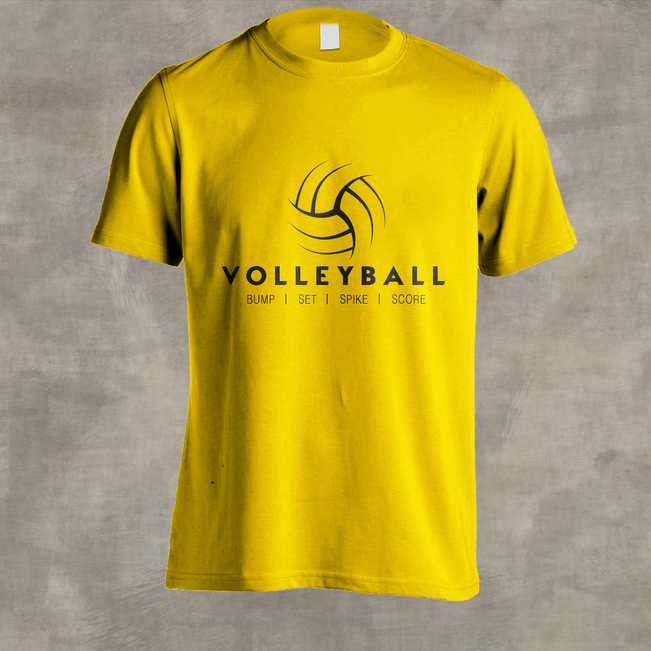 Tshirt AEK VOLLEYBALL 2019 (Κίτρινο)