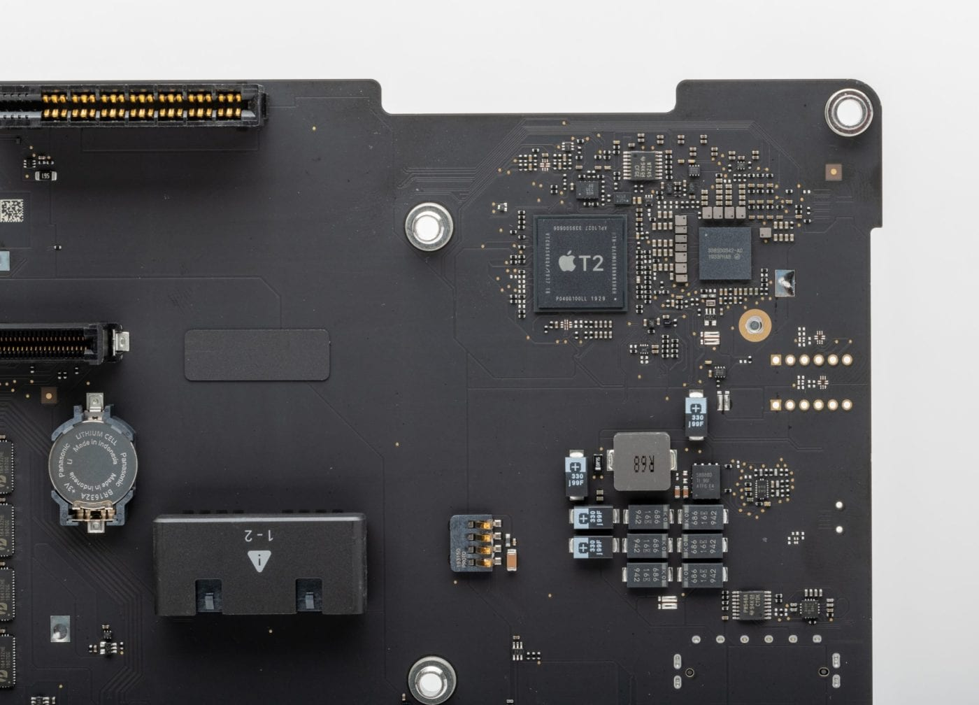 2019 Mac Pro – Close up of Apple T2 chip