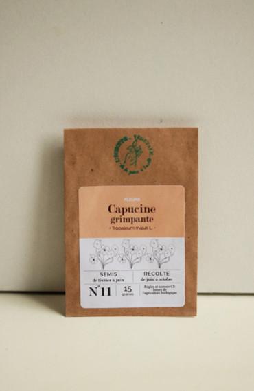Premières pousses : box jardinage bio pour enfant : semences bios et reproductibles fleurs comestibles capucine grimpante