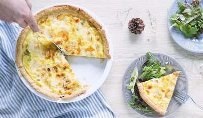 quiche aux poireaux & gorgonzola