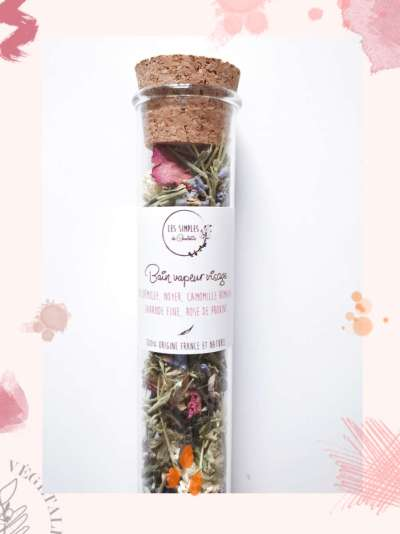 """le bain vapeur à base de fleurs bios et séchées, Les simples de Charlotte, box jardinage bio """"Au pays de mère nature"""""""