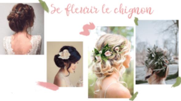 Inspirations de chignons fleuris, coiffures pour mariage ou événement