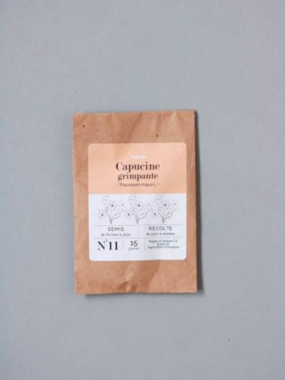 graines bio et reproductibles de fleur comestible de capucine grimpante - échoppe végétale