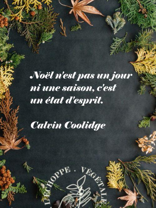 citation : noel n'est pas un jour, ni une saison, c'est un état d'esprit, calvin coolidge