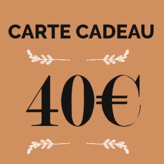 carte cadeau 40€ boutique en ligne éthique, écologique et box jardinage