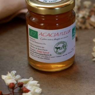 confit bio de fleurs d'acacia aux fleurs comestibles MADE IN FRANCE, herbier de saint-fiacre