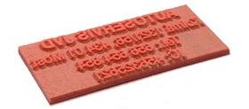 štočok gumička - odtlačok pečiatky