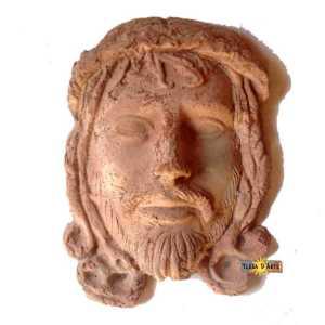 Mascherone in terracotta Ges� - TERRA D'ARTE