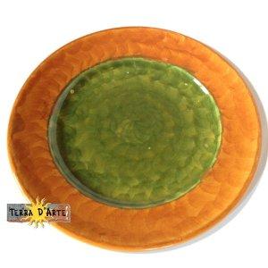 Piatto Piano Arancione  - Serie Sole - TERRA D'ARTE