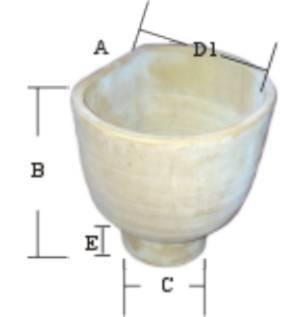 Imbuto piatto in terracotta