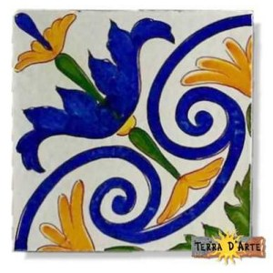 decoro siciliano in ceramica TD 229
