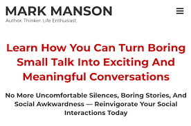 Mark Manson – Connection Program