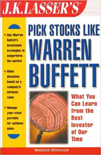 J. K. Lasser Warren Boroson Pick Stocks Like Warren Buffett
