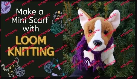 How to Make a Mini Scarf with Loom Knitting