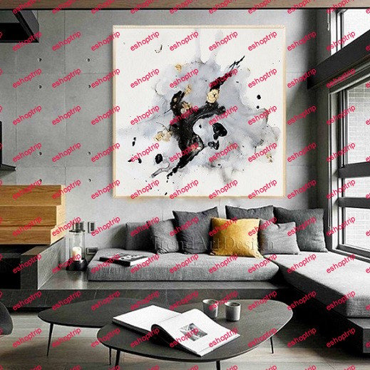 Contemporary Wall Art using Gold Leaf Home Decor
