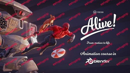 Gumroad Alive Animation course in Blender by p2design