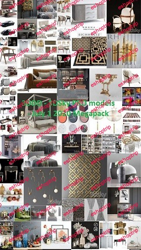 3DDD 3DSky PRO models July 1 2020 Megapack