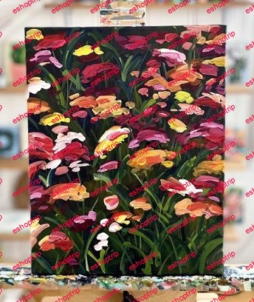 Acrylic Painting How to Paint Wildflowers with Acrylic Paint on Canvas Step by Step for Beginners