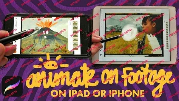 Animate On Footage Using Procreate On The iPad And iPhone