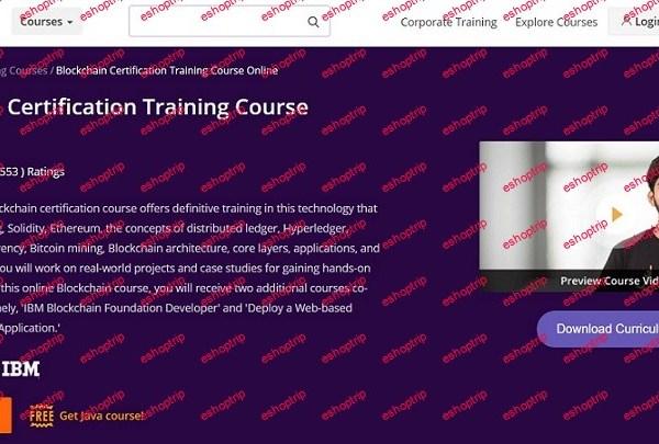 Intellipaat Blockchain Certification Training Course