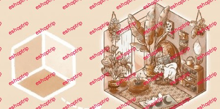 Isometric Illustration in Procreate Design Your Dream Room