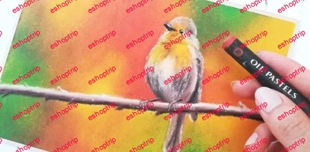 Layering Oil Pastels 101 Paint a Realistic Bird with Autumn Colors