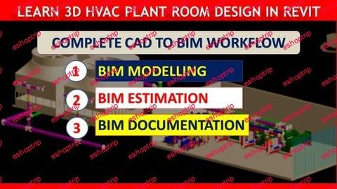 Step by Step Design of 950TR HVAC Plant Room in Revit MEP