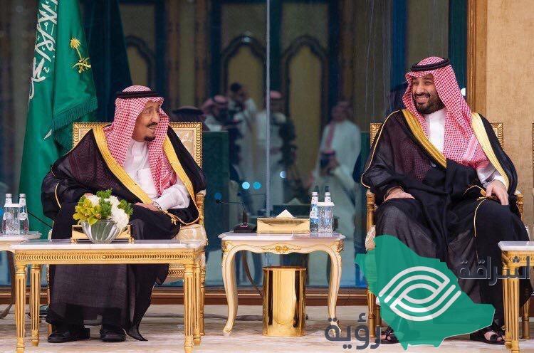 خادم الحرمين الشريفين يستقبل قادة الوفود الخليجية