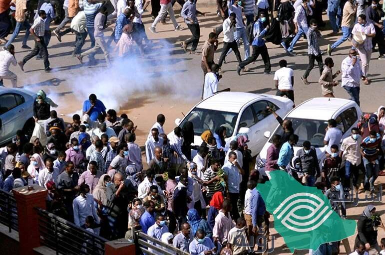 السودان إطلاق النار على المعتصمن وسقوط 8جرحى