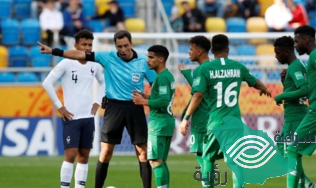 """""""كاس العالم للشباب"""" خسارة المنتخب السعودي وطرد لاعبه أمام فرنسا وتعادل إيجابي لمنتخب مالي وبانما"""