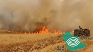 حرائق في حقول القمح بسوريا