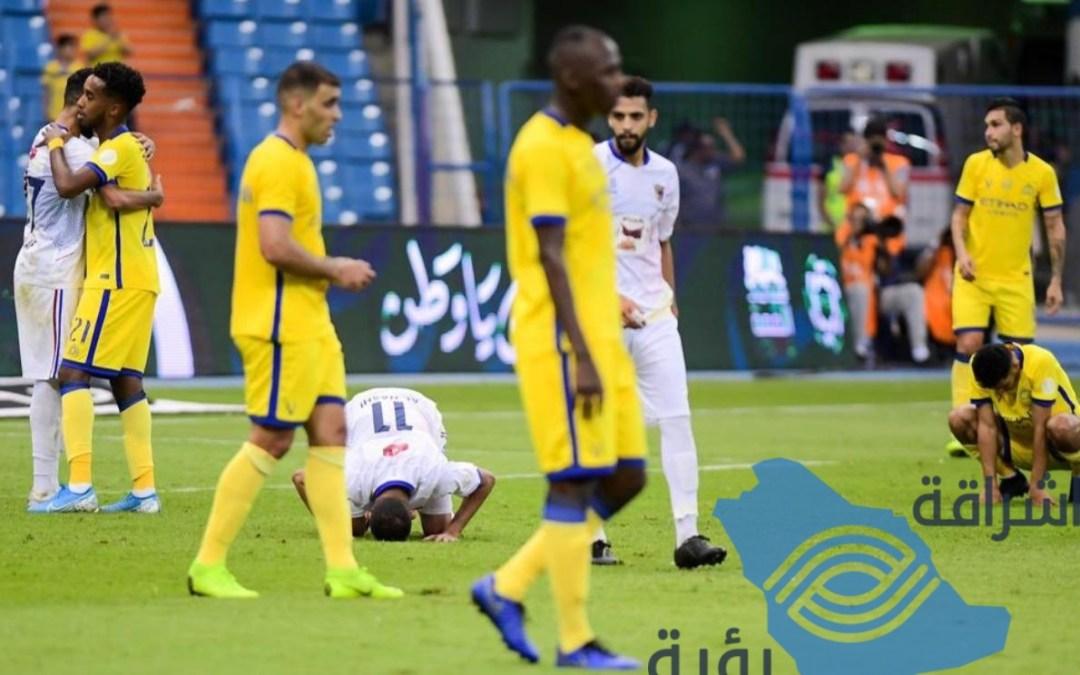 الحزم انتصار أول على حساب نادي النصر في دوري المحترفين بهدف دون مقابل.
