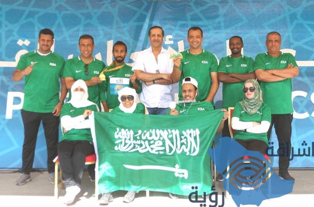 """المنتخب السعودي لألعاب القوى لذوي الاعاقة في البطولة العالمية بدبي يحقق الميداليتين  """"الذهبية وفضية"""""""