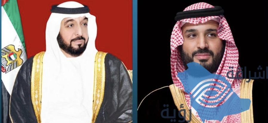 سمو ولي العهد يبعث برقية شكر لسمو رئيس دولة الإمارات العربية المتحدة