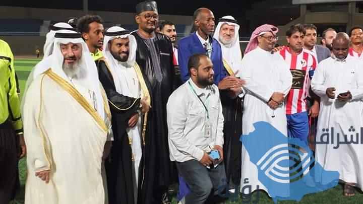الأمير: فيصل بن ثامر يفتتح بطولة الصداقة الدولية للجاليات بحضور رجال الأعمال: سالم بن شامخ وتركي السمان