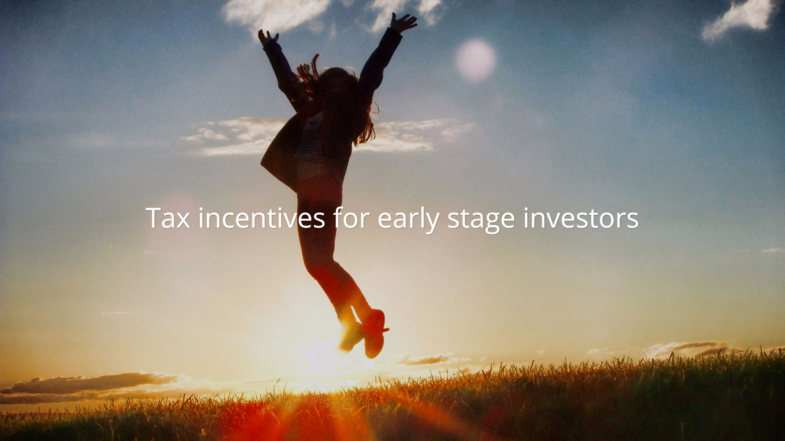 Tax incentives for early stage investors