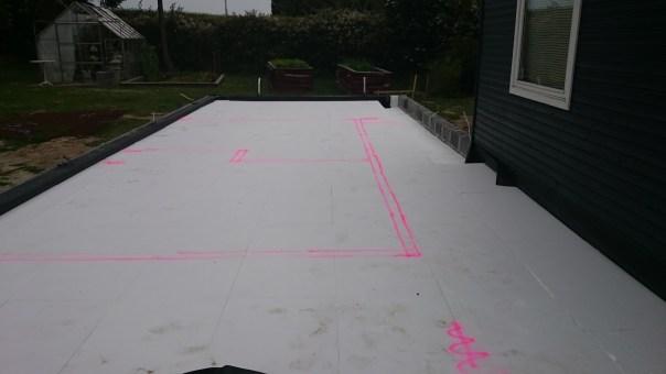 Opmærkning til gulvvarme isolering fundament