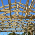 Tagkonstruktion spær og vindgitterbånd