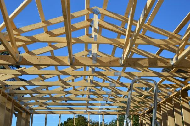 Tagspær sommerhus tilbygning