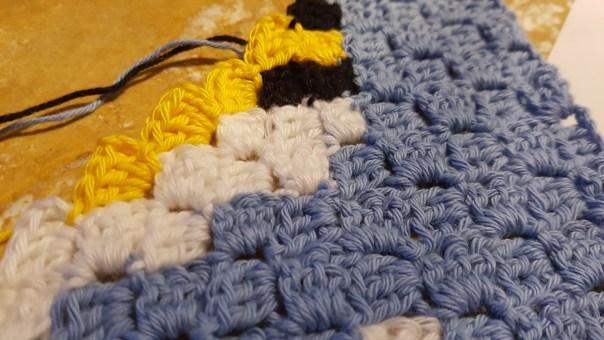 c2c hæklet, crochet