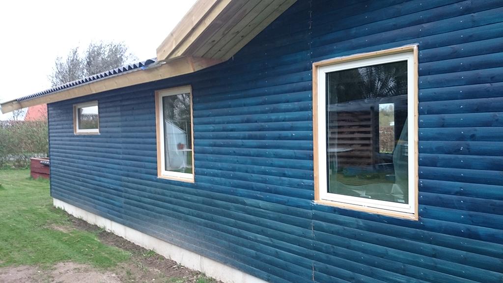 Det færdige resultat af gør-det-selv montering af vinduer
