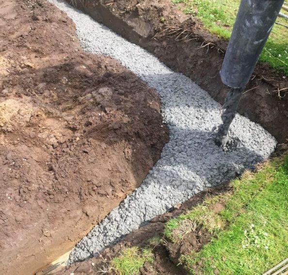 Støbning af fundament