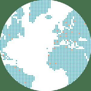 Présence à l'international d'ESID, carte du monde