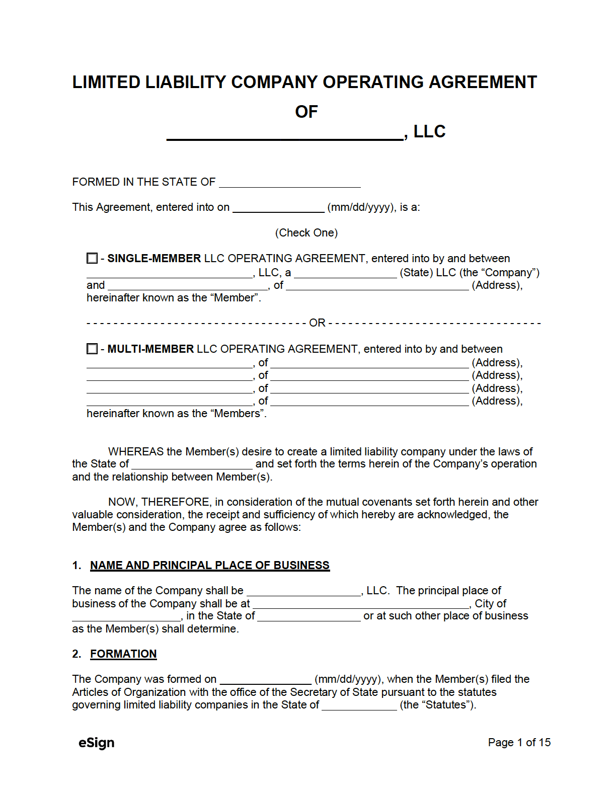 Filling out your operating agreement template with rocket lawyer is easy. Free Llc Operating Agreement Template Pdf Word
