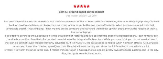 Acton Blink S2 Electric Skateboard Review 3
