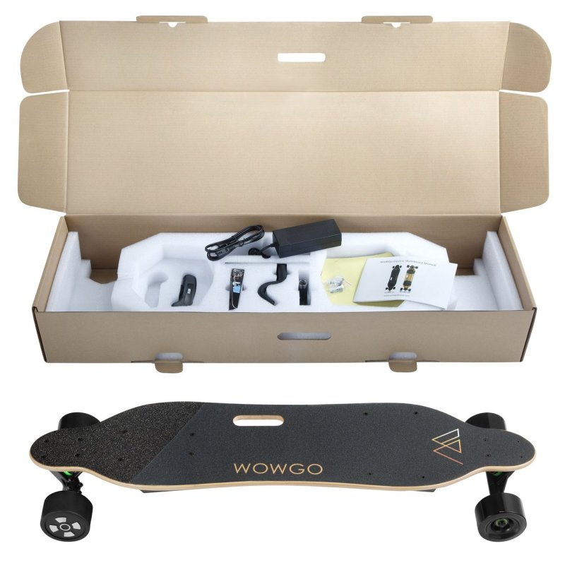 WowGo electric skateboard box contents