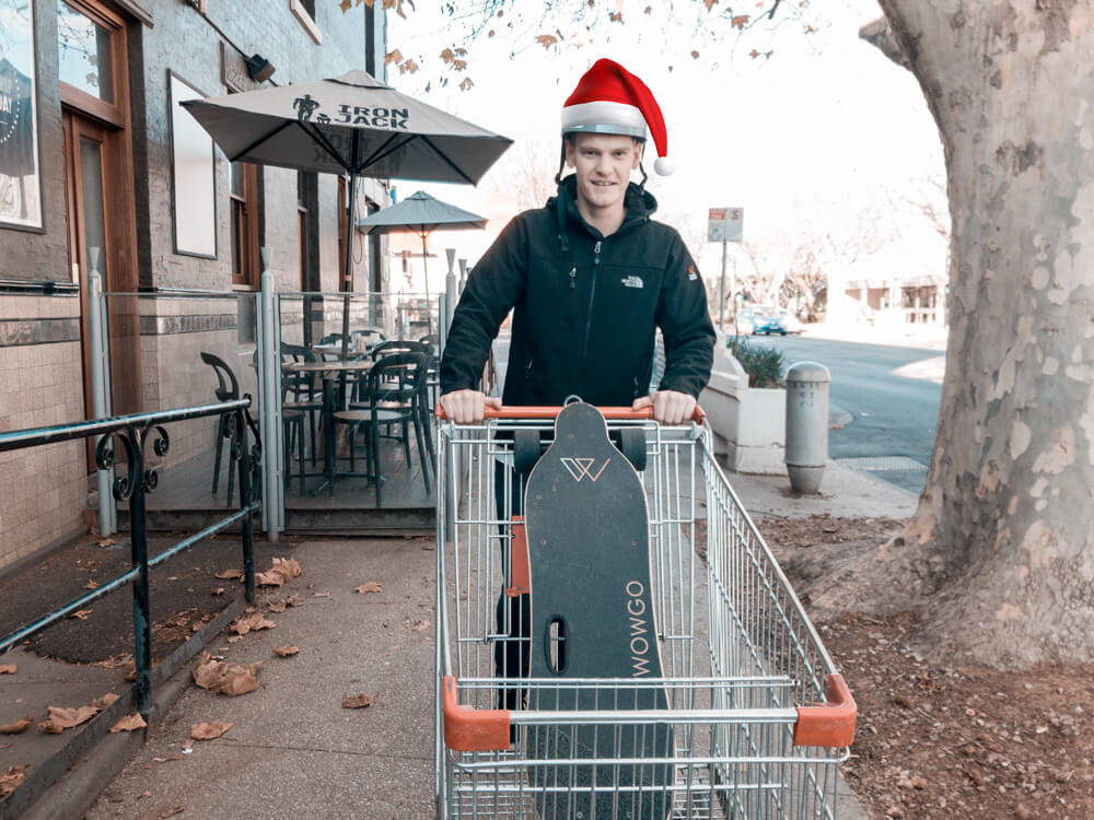 Santa Hat Nate Trolley