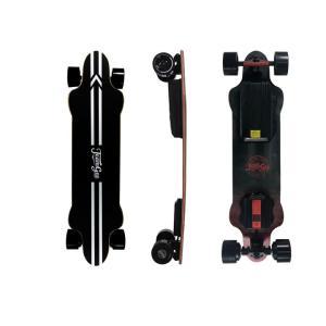Teamgee H20 electric skateboard with black wheels