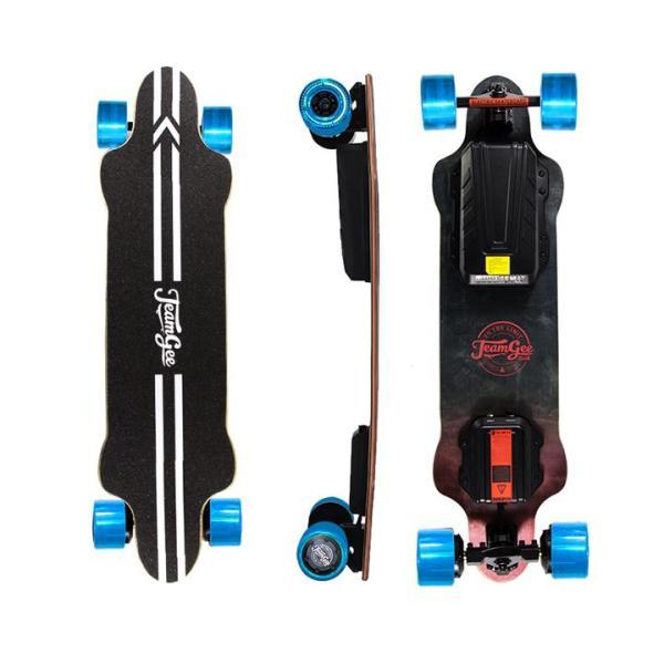 Teamgee H20 eskateboard with blue wheels